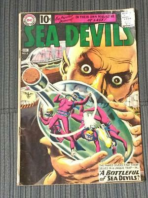 Sea Devils #2 DC Comics silver age  1960's missing centerfold stories complete
