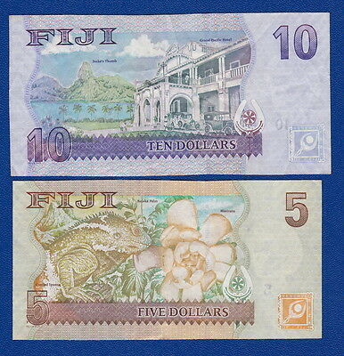 FIJI - Bulk Current Banknotes $10 & $5 in QEII SET - Collectors* or Travellers*