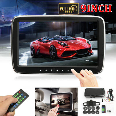 9'' HD Digital LCD Screen Car Headrest Monitor Mount DVD Media Player USB SD MP5