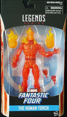 "Hasbro Marvel Legends Fantastic Four 6"" Human Torch Action Figure 2017"