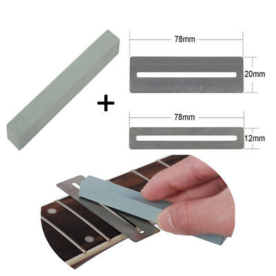 2pcs Guitar Stainless Fretboard Protector Guard + Fretwire Sander Polish Tools