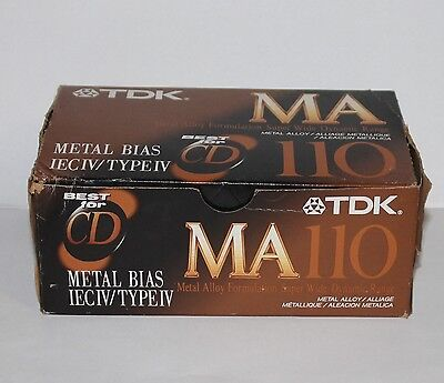 NEW (open) *10-Pack* TDK MA 110 Metal Bias TYPE IV Audio Cassette Tapes