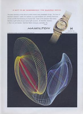 1960 Hamilton PRINT AD Meteor Watch great detailed graphic designed vintage ad