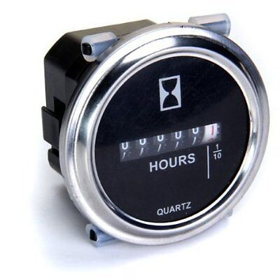 Round Hour Meter Gauge Hourmeter 6 to 80V Boat Outboard Inboard Marine Lawn