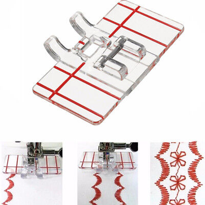 Clear Plastic Parallel Stitch Foot Presser For Home Domestic Sewing Machine W87