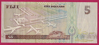 FIJI  BANKNOTE - Portraying  'NADI INTERNATIONAL AIRPORT' $5 BANKNOTE - Rare