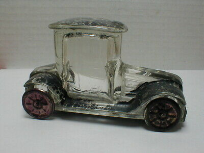 1918 T.g. Stough - Candy Container Toy Tin Wheeled Auto
