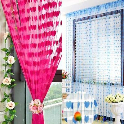 Silk String Curtain Panels ~ Fly Screen & Room Divider ~ Voile Net Curtains  #W