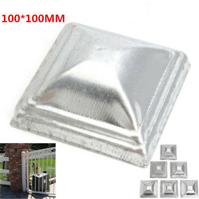 Galvanised Steel Pyramid Post Cap Square Fence Tube Cover Fencing Post 100*100MM