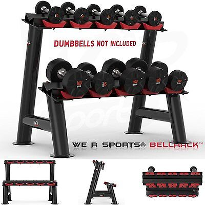 Heavy Duty Gym Dumbbell Rack Stand Holder For Hex Rubber Dumbbells 5 Pairs
