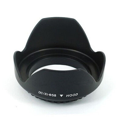 58mm Flower Shape Lens Hood For Canon EOS 1100D 650D 550D 600D 500D 450D Utility