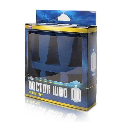 Doctor Who Tardis Dalek Ice Cube Chocolate Cake Silicone Mould with Retail Box