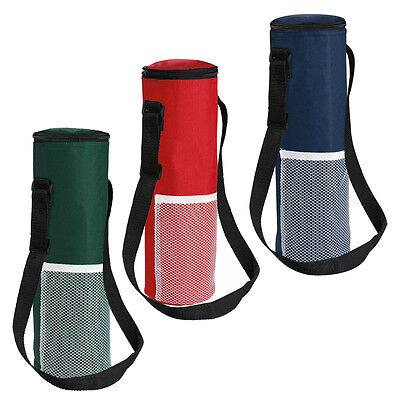 Insulated Bottle Cool Bag With Strap Picnic Drinks Carrier Wine Cooler