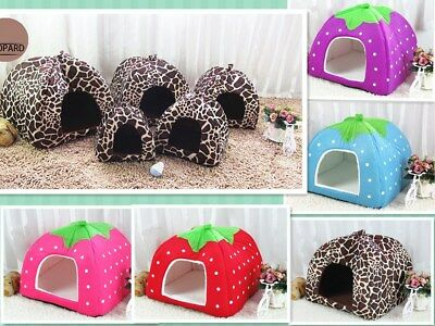 Pet Dog Bed House Kennel Mat Pad Portable Washable Puppy Cat Cushion Tent