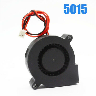 12V Brushless Turbine Blower Cooling Fan 5015 Exhaust DC Fan For 3D Printer