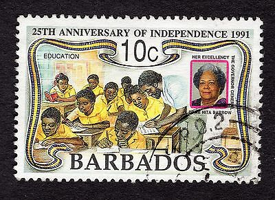 1991 Barbados 10c 25th Anniv Inependence School Class SG965 FINE USED R32470