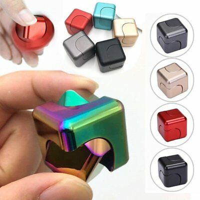 Fidget Finger Hand Spinner Stress Relief Cube Anxiety Anti Focus Desk Toy Cubes