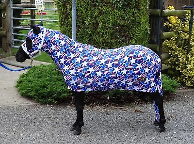 Miniature Horse Lycra Body With Tail Cover – Patterned
