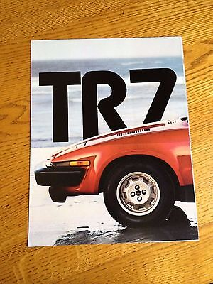1979 Triumph Tr7 Sales Brochure, Original Item Not A Re-Print