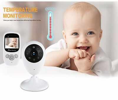 Wireless Baby Monitor & Camera 2.4GHz Digital Color LCD Video Audio Night Vision