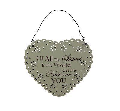 Best Sister In The world Lace Plaque - Special Sister plaque - Birthday Gift