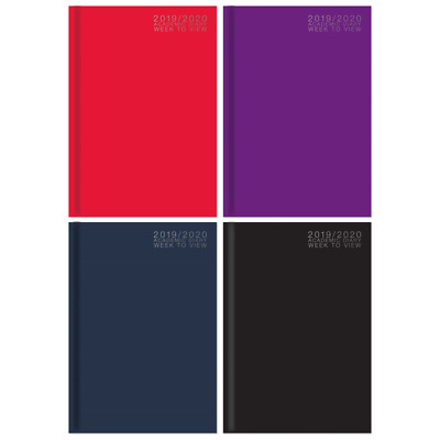 2018 A5 Week To View Diary Personal Organiser with Address Book and Pen-3 Colors