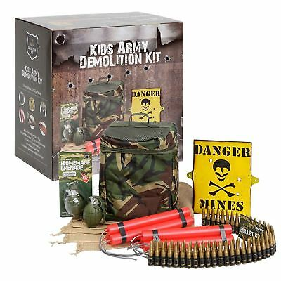 Kids Army Toy Demolition Kit Camouflage Roleplay Pretend
