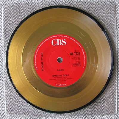 "Bonnie Tyler - Band Of Gold - Rare 7"" 45 Gold Vinyl Record 1986"