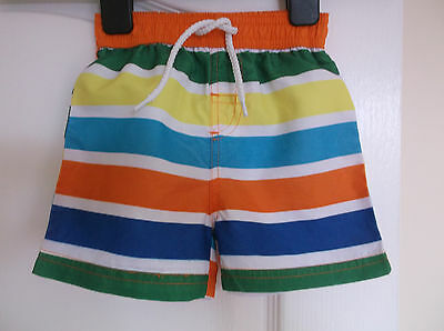 New Matalan Baby Boys Netted Striped Swim Shorts age 3-6 Months