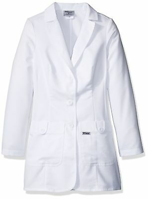 Grey's Anatomy Women's 32 Inch Two Pocket Fitted Lab Coat White Medium