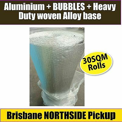 HEAVY DUTY DOUBLE SILVER FOIL BUBBLE INSULATION 30m2 GUARANTEED BEST PRICE