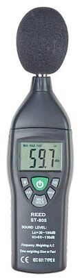 REED Instruments ST-805 Mini Sound Level Meter with Case
