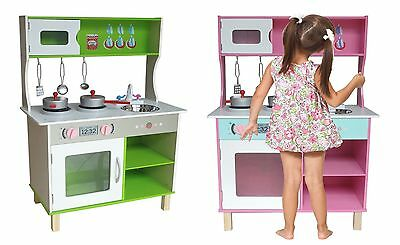 Kiddi Style Large Modern Wooden Kitchen Boys Girls Chefs Food Role Play NEW