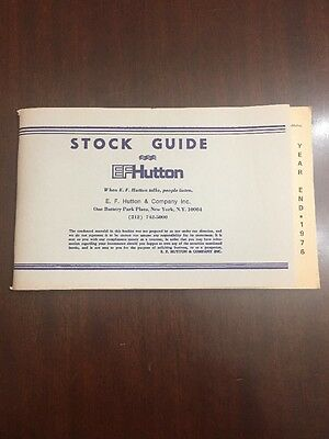 Stock Guide. EF Hutton. Standard & Poor's. June, 1976