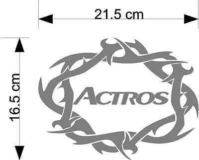 Mercedes Actros word tribal truck cab body or window sticker