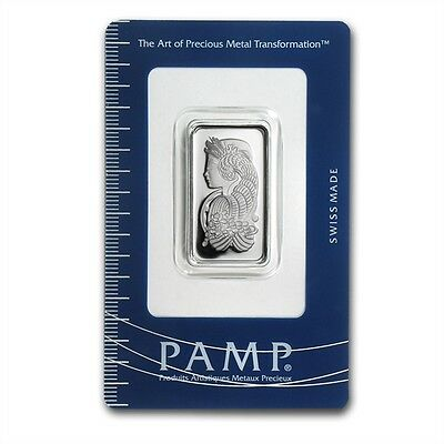 PAMP Suisse Lady Fortuna 10 g gram .999 Silver Bar (in Assay)