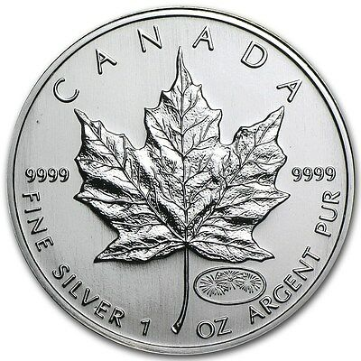 1999 / 2000 Canadian Maple Leaf Millennium Privy 1 oz .9999 Silver Coin