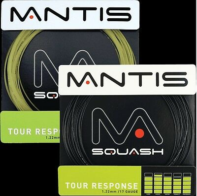 Mantis Squash Single Racket String Tour Response 1.22mm / Braided 1.25mm 10M