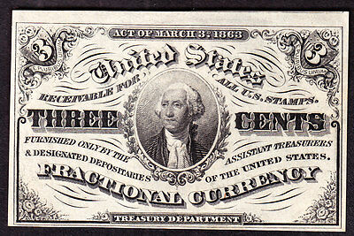 US 3c Fractional Currency 3rd Issue FR 1226 CU