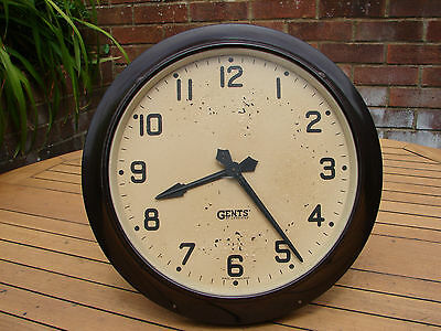 "Gents of Leicester Pul-Syn-Etic Electric Impulse Clock Bakelite 12"" 1930s 1940s"