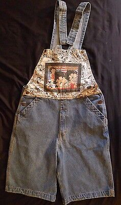 Vintage BETTY BOOP Jean Shorts Romper Jump Suit Overalls Womens Medium Canada