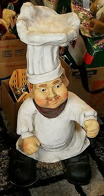 "chef statue large 33"" inch heavy figure pizzaria resteraunt decor"