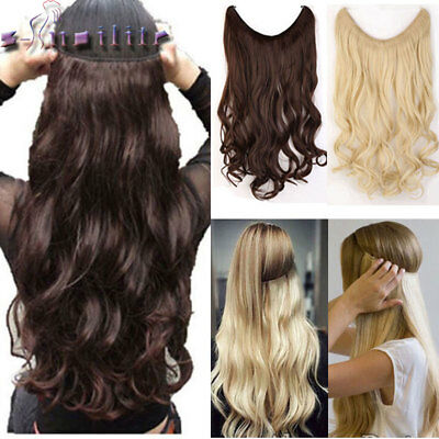 UK Maga Long Secret Wire in Natural Hair Extensions Invisible As Human Hair Hn1