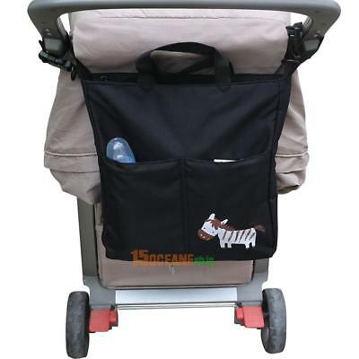 1x Waterproof Baby Carriage Stroller Storage Hanging Nappy Diaper Bag Organizer