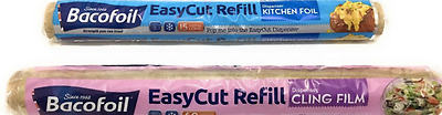 Bacofoil Easycut Cling Film Refills Clingfilm Rolls and Foil Refill Roll