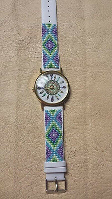 native american style beaded watch