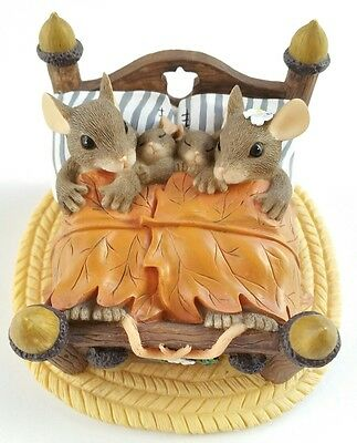 Fitz & Floyd Charming Tails The Honeymoon's Over Mouse Family Figurine with Box