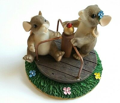 Fitz & Floyd Charming Tails YOU TURNED MY LIFE AROUND Merry Go Round Figurine