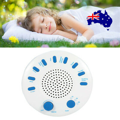 Relax Machine Deep Sleep Solution Noise Nature Therapy WIth 9 Sounds White ON