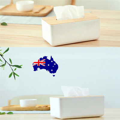 Plastic Home Room Car Hotel Tissue Box Wooden Cover Paper Napkin Holder Case ON